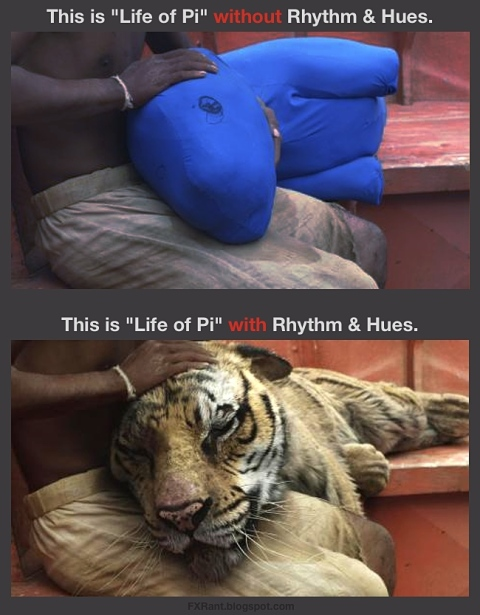 Life of Pi with & without Rhythm and Hues