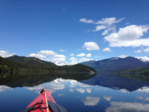 Kayaking on the Clearwater Lake