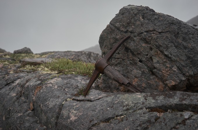 Pick axe on the Chilkoot Trail